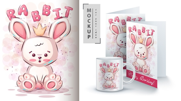 Teddy rabbit poster and merchandising