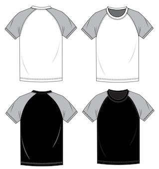 Tee shirt fashion flat sketch template