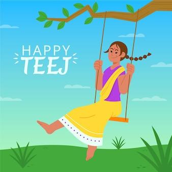 Иллюстрация фестиваля teej