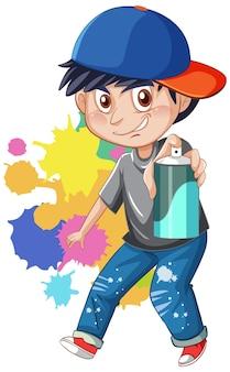 Personaggio dei cartoni animati gangster adolescente