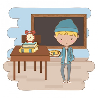 Teenager boy cartoon clip-art illustration