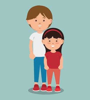 Teenager boy standing  next to girl