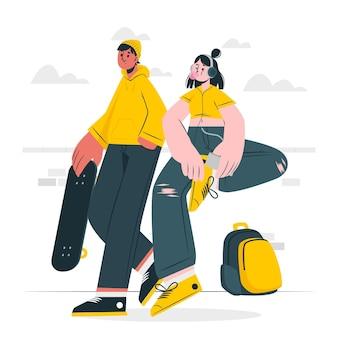 Иллюстрация концепции подростка