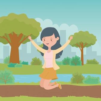 Teenager girl cartoon