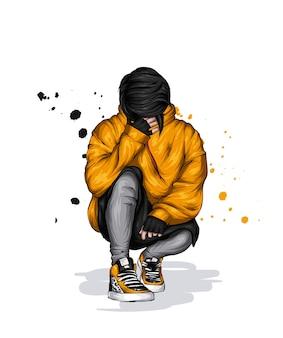 Подросток в стильной одежде