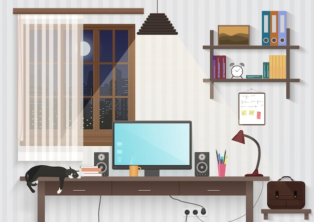 Teenager male room workplace