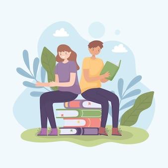 本で学ぶティーンエイジャー