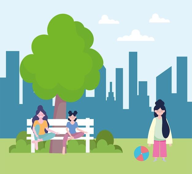 十代の若者たちの公園活動