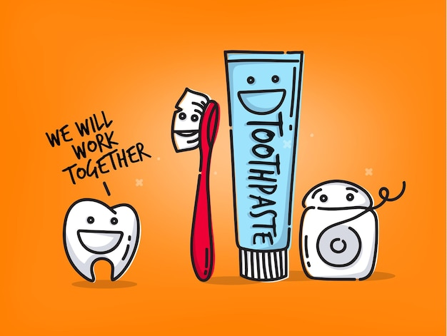 歯の漫画オレンジ