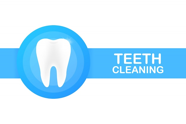 Teeth cleaning. teeth with shield icon design. dental care concept. healthy teeth. human teeth.