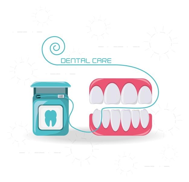 Teeth of dental care health hygiene and medical