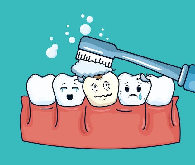 Trattamento di igiene dei denti per cure dentistiche