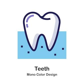 Значок монохромного зуба