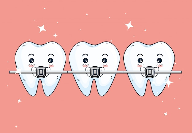 Teeth orthodontist treatment to dentistry healthcare