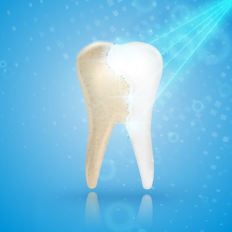 Teeth whitening 3d concept