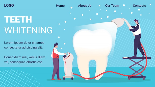 Teeth whitening service website template