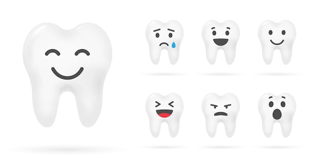 Teeth with smile. dental care