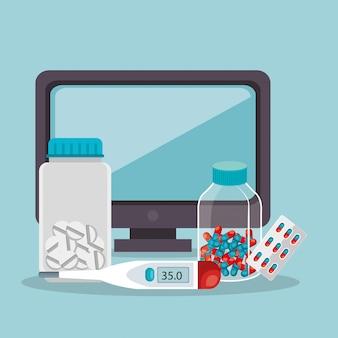Tele medicine online with desktop