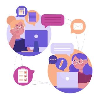 Telecommuting concept