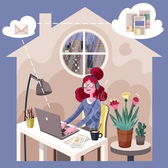 在宅勤務のコンセプト