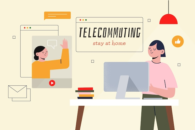 Telecommuting illustration