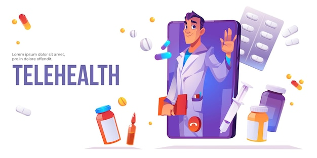 원격 의료 방문 페이지