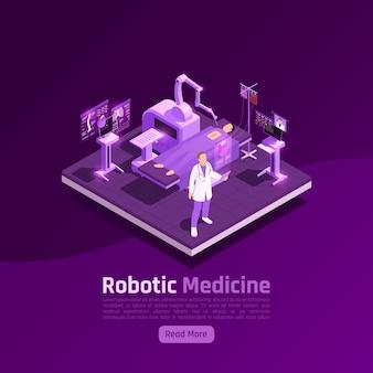 Телемедицина цифровое здоровье свечение изометрическая иллюстрация