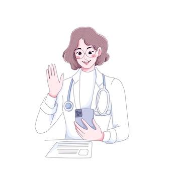 Telemedicine doctor character