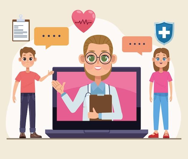 ラップトップテクノロジーの遠隔医療