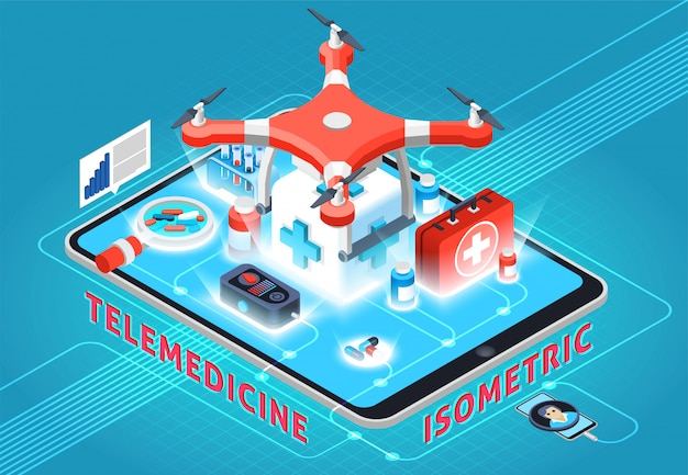 Telemedicine isometric composition