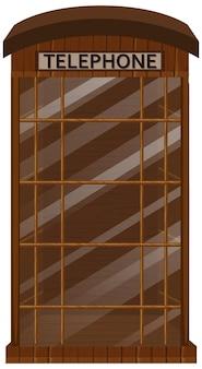 Cabina telefonica con porta in vetro