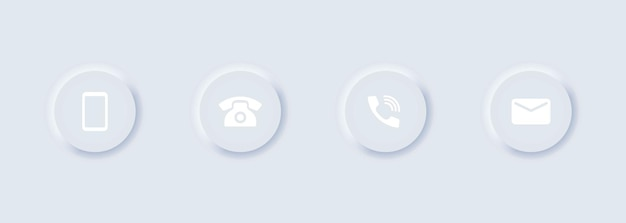 Telephone and message icon set
