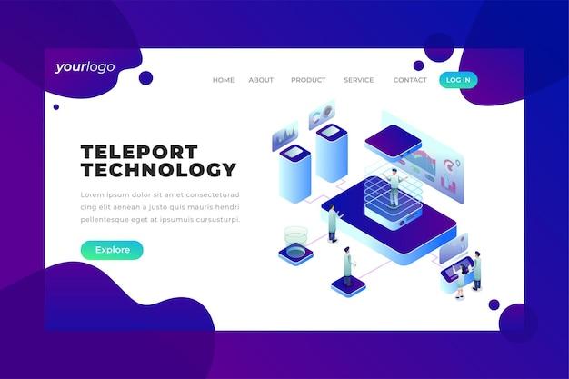 テレポートテクノロジー-ベクターランディングページ