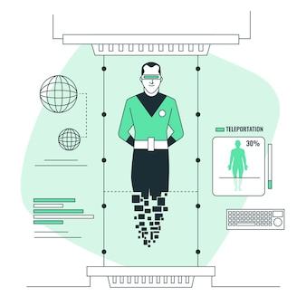 Иллюстрация концепции телепортации