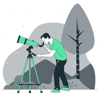 Telescope concept illustration