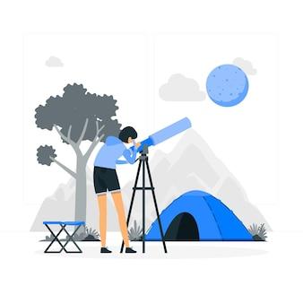 Illustrazione del concetto di telescopio
