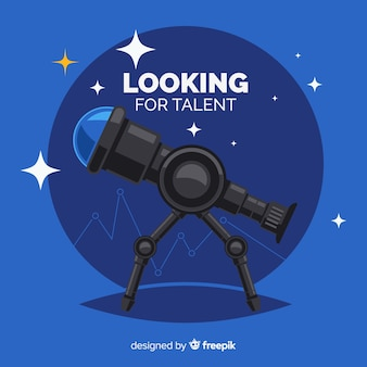 Telescope looking talent background