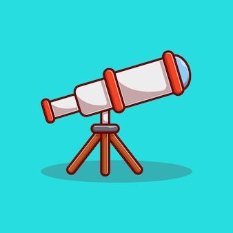 望遠鏡のベクトルイラストデザイン