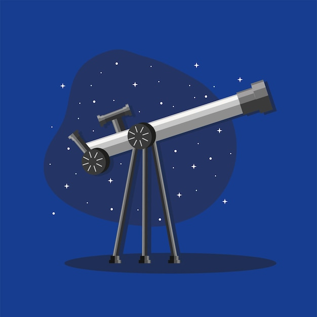 Telescope with night sky