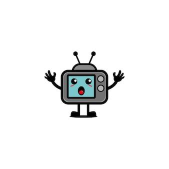 Телевидение милый дизайн персонажей иллюстрации технология вектор игрушка