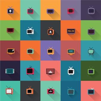 Коллекция телевизионные иконки