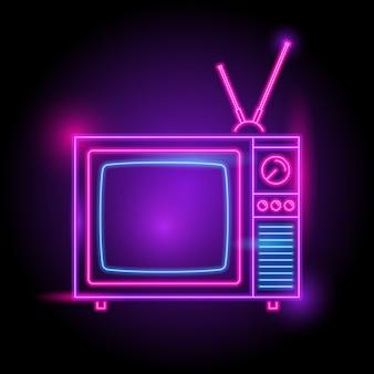 Television neon logo