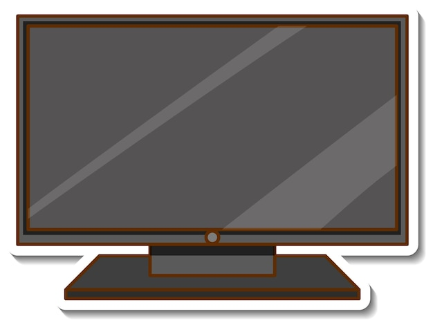 A television sticker on white background