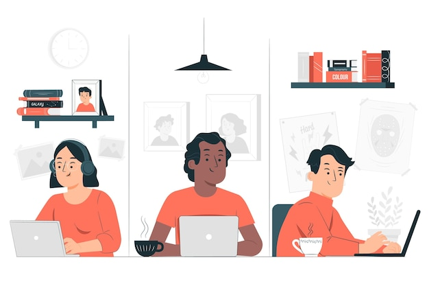 Telework concept illustration