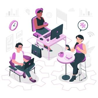 Иллюстрация концепции телеработы