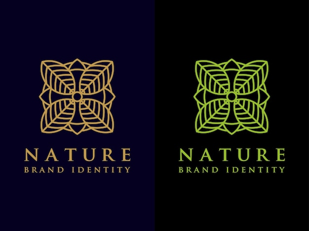 Дизайн логотипа tempalte leaf набор символ простой природы