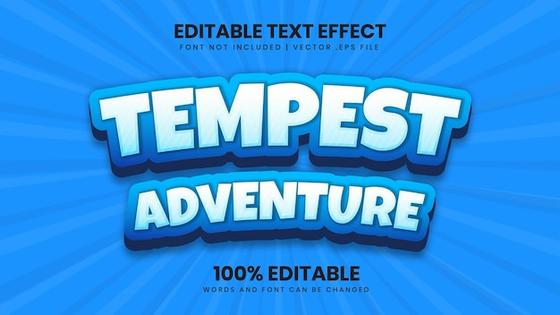 Tempest adventure editable text effect