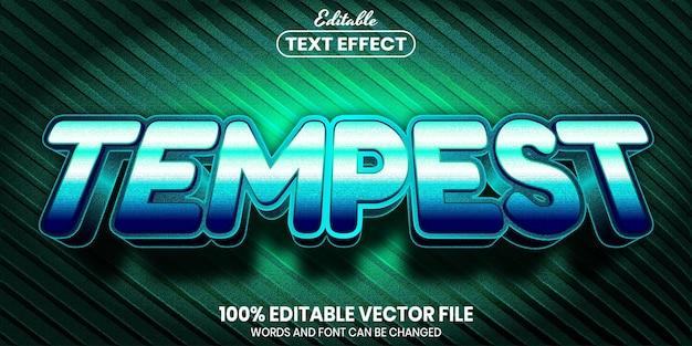 Текст tempest, редактируемый текстовый эффект стиля шрифта
