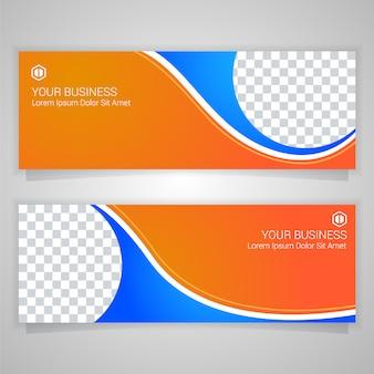 Оранжевый бизнес-баннер templante