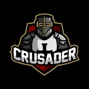 Templar armored knight esport gaming mascot logo template